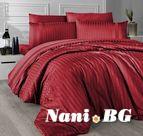 Луксозно спално бельо памучен сатен Deluxe - NEW TREND KIRMIZI