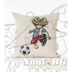 Испанска декоративна възглавница с цип - ФУТБОЛИСТ