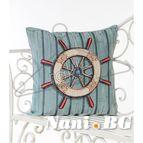 Испанска декоративна възглавница с цип - РУЛ СИНЬО