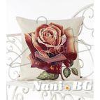 Испанска декоративна възглавница с цип - РОЗА