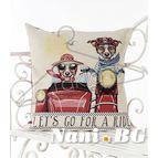 Испанска декоративна възглавница с цип - ПРИЯТЕЛИ