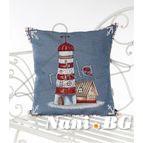 Испанска декоративна възглавница с цип - МОРСКИ ФАР