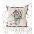 Испанска декоративна възглавница с цип - ЛАВАНДУЛА