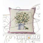 Испанска декоративна възглавница с цип - БОСИЛЕК