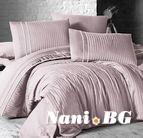 Луксозен спален комплект памучен сатен Deluxe - STRIPE STYLE PUD