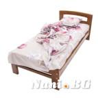 Дървено легло Масив - тъмен орех