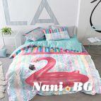 Спално бельо - Фламинго пояс