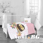 Бебешко спално бельо - Розов Бухал