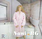 Халат за баня с качулка Алана - Розово