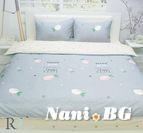 Спално бельо памучен сатен Фрути