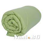 Зимна олекотената завивка - Зелена