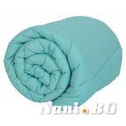 Зимна олекотената завивка - Морско синьо
