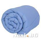 Зимна олекотената завивка - Светло синьо