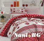 Коледно спално бельо от бархет - CHRISTMAS
