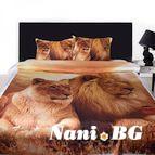 3Dспално бельо с Животни - Лъвове