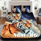 3Dспално бельо с Животни - Tigers