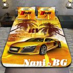 3Dспално бельо с Коли - Audi Sandy color