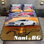 3Dспално бельо с Коли - Mustang