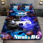 3Dспално бельо с Коли - Buggati