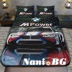 3Dспално бельо с Коли - Bmw M power