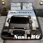 3Dспално бельо с Камиони - RENAULT