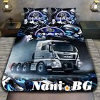 3Dспално бельо с Камиони - Man