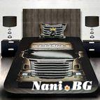 3Dспално бельо с Камиони - Scania oro