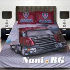 3Dспално бельо с Камиони - Scania