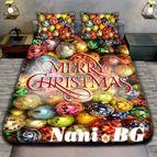 Коледно 3D спално бельо - MERRY CHRISTMAS BALL