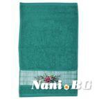 Хавлиени кърпи с бордюр 50x80 Клонка - зелена