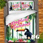Детско 3D спално бельо - Tropical summer