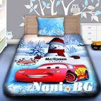 Детско 3D спално бельо - MERRY CHRISTMAS MCQUEEN