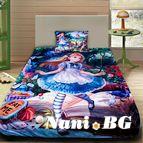 Детско 3D спално бельо - Алиса в страната на чудесата