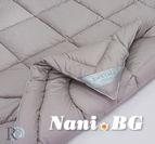 Памучна олекотена завивка 300gr - Сиво