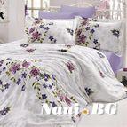 Спално бельо памучен сатен - Нериса лила
