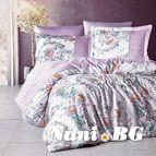 Спално бельо памучен сатен - Розалита Лила