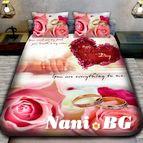 3Dспално бельо Романтични - Пръстени