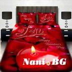 3Dспално бельо Романтични - Пламенно Сърце