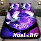 3Dспално бельо Романтични - Влюбени гълъби