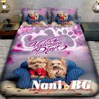 3Dспално бельо Романтични - Двойка Йорки