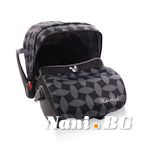 Детско столче-кошничка за кола Rachel 0-13 kg - сиви листа
