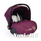 Детско столче-кошничка за кола Luxor 0-13 kg - лилав