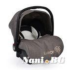 Детско столче-кошничка за кола Luxor 0-13 kg - сив