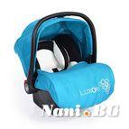 Детско столче-кошничка за кола Luxor 0-13 kg - син