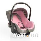 Детско столче-кошничка за кола Babytravel 0-13 kg - Розов