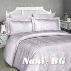 Луксозен спален комплект памучен сатен, жакард - TIAMO KUM