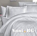 Луксозен спален комплект памучен сатен, жакард - HERRA BEYAZ