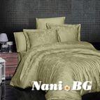 Луксозен спален комплект памучен сатен, жакард - HERRA YESIL