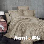 Луксозен спален комплект памучен сатен, жакард - SARAL BADEM