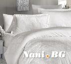 Луксозен спален комплект памучен сатен, жакард - SOFYA KREM